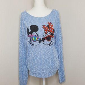 Disney's Mickey & Minnie Blue Sweater